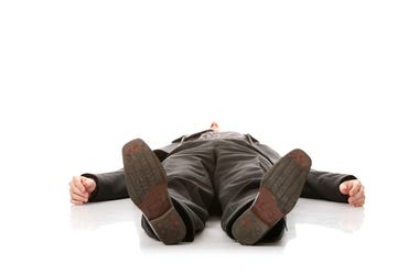Businessman, Lying On Ground, Shoes
