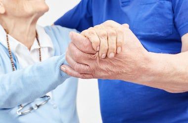 Senior Citizens, Elderly, Dancing, Holding Hands