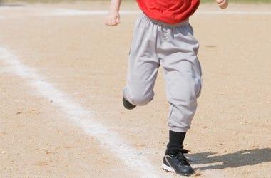Baseball, Running, Kid