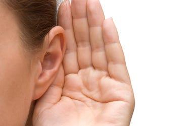 Girl, Listening, Hand, Ear