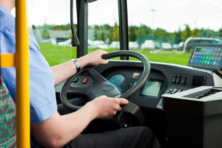 Bus Driver, Steering Wheel, Seat