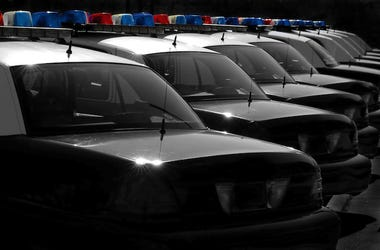 Police, Squad, Cars, Red, Blue, Lights
