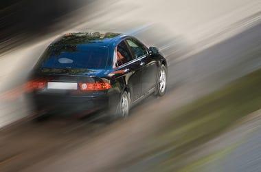 Speeding, Black, Car