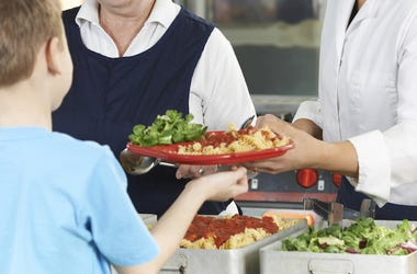 School, Cafeteria, Lunch, Lunch Ladies, Boy, Pasta