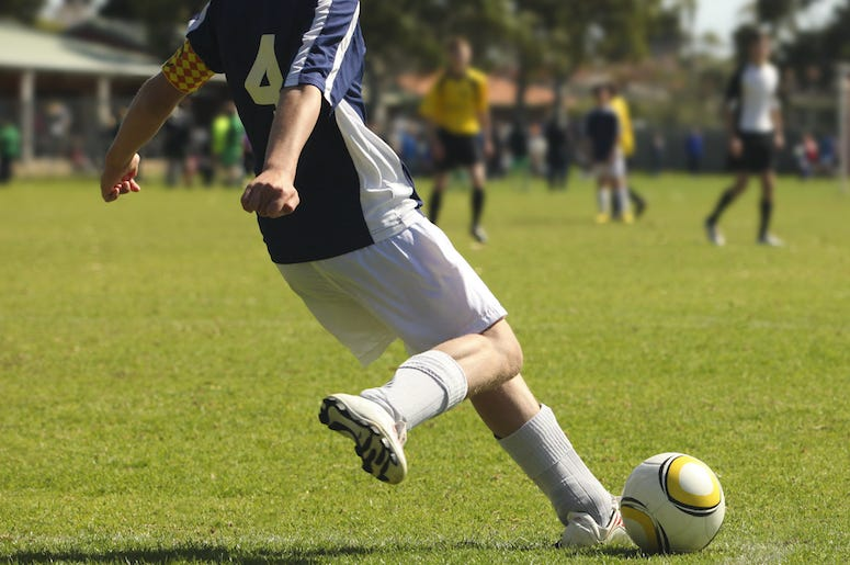Male, Soccer, Ball, Kick