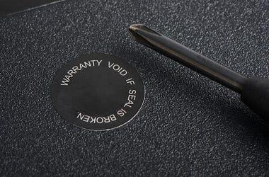 Warranty, Sticker, Product