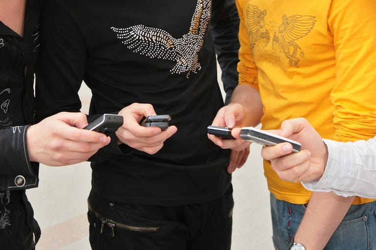 Men, Guys, Cell Phone, Texting