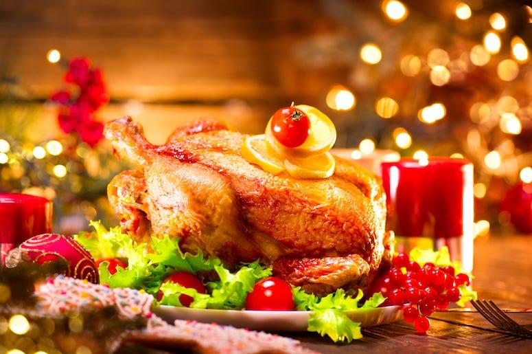 Christmas Dinner, Holidays, Turkey, Decorations, Christmas Tree