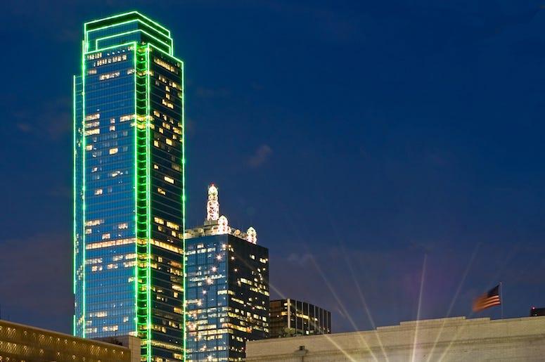 Dallas, Skyline, Bank of America, Building, Plaza