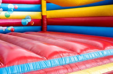 Colorful, Bouncy House, Castle