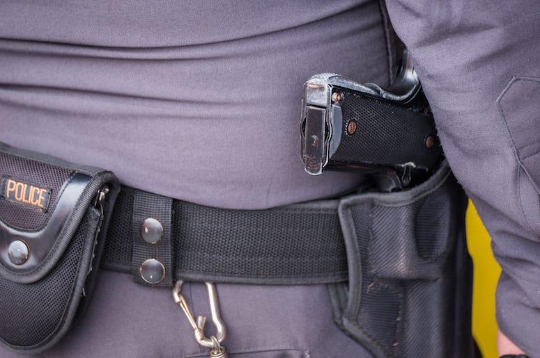 Police, Gun, Pistol, Holster