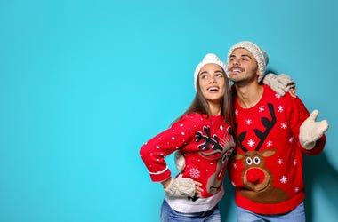 Ugly Christmas Sweater Couple
