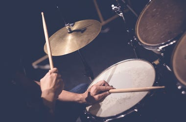 Drums, Drummer, Drumming, Male, Arms, Band, Music, Stock