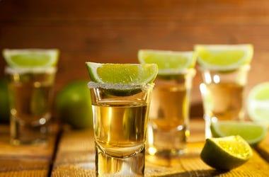 Teauila, Shots, Lime, Salt