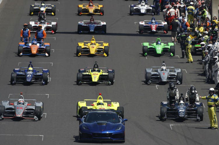 Detroit Grand Prix Starting Line