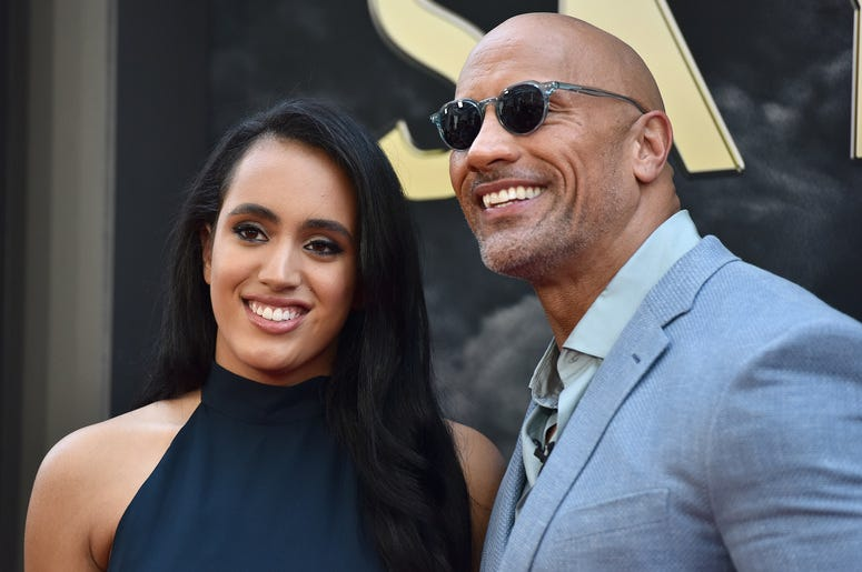 Simone Garcia Johnson and Dwayne Johnson