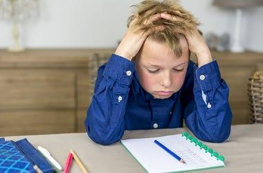 Child Struggles With Homework