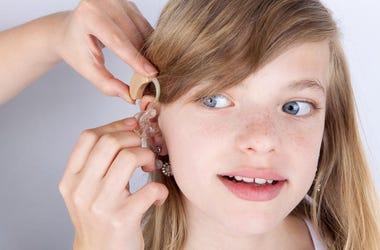 Girl Hearing Aid