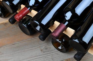Bottles, Wine, Rack
