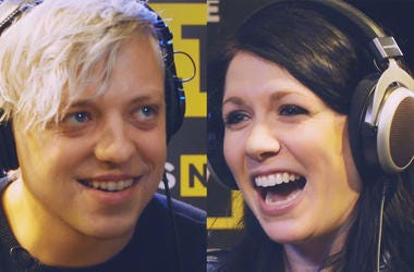 """Robert Delong & K.Flay Play """"Say What"""" in The ALT 103.7 Performance Showroom"""