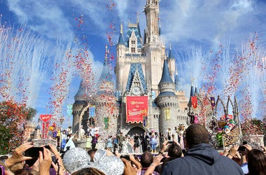 Disney World, Magic Kingdom, Cinderella Castle, Confetti, New Fantasyland, 2012