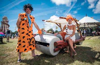 The Flintstones, Costumes, Festival Music, Outdoors, Flintstone Mobile, Fred Flintstone, Wilma Flintstone