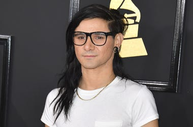 Skrillex, Sonny Moore, 59th Grammys, Red Carpet, White Shirt, 2017