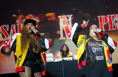 Sandra Denton, Cheryl James, Deidra Ropert, Salt-N-Pepa, DJ Spinderella, Live, I Love The '90s, Birmingham, 2017