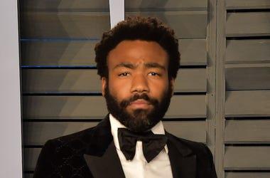 Donald Glover, Serious, Beard, Suit
