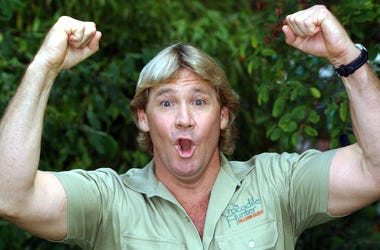 Steve Irwin, The Crocodile Hunter, Excited, Arms Up, 2002
