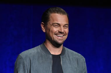 Leonardo DiCaprio, Stage, CinemaCon, Laughing, 2018