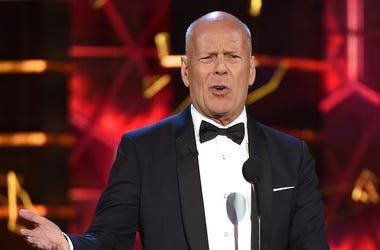 Bruce Willis, Roast, Talking, Tuxedo