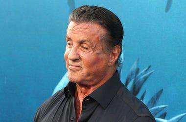 Sylvester Stallone, Red Carpet, The Meg, Premiere, Black Shirt, 2018