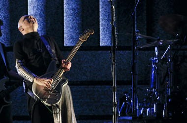 Billy Corgan of the Smashing Pumpkins perform at the Forum on August 30, 2018