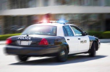 Police, Car, Vehicle, Speeding, Driving, Blurry