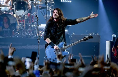 Dave Grohl on stage with the Foo Fighters