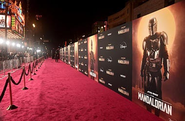 red carpet for The Mandalorian