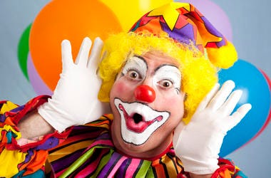 Clown, Funny Face, Balloons