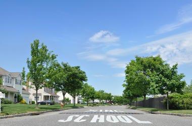 School Crossing, School, Road, Street