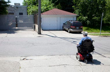 Elderly, Senior, Person, Wheelchair, Mobility Scooter, Neighborhood