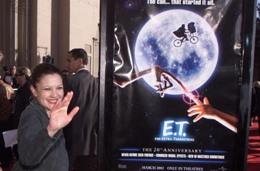 Drew Barrymore at the 20th anniversary of E.T.