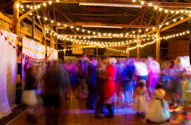 Wedding Reception, Dance Floor, Blurry, Moving, Lights