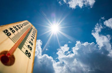 Sun, Summer, Sky, Hot, Thermometer, Temperature