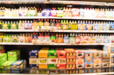 Out of focus Beer aisle