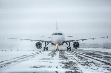 Plane in the snow