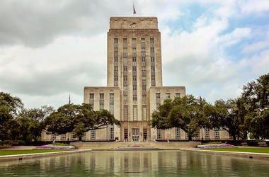 Houston, Texas, City Hall, Downtown, Cloudy