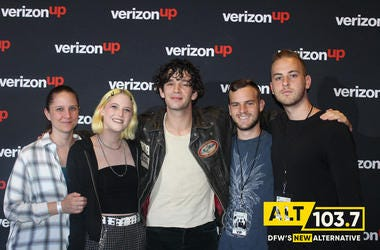 The 1975 Meet & Greet In Verizon Artist Lounge At ALT 103.7 Studios