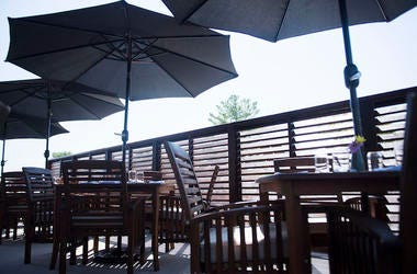 Outdoors, Patio, Umbrella, Restaurant, Sunny, Shade