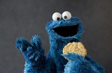 Cookie Monster, Cookie, Portrait, Studio, Pose, Sesame Street