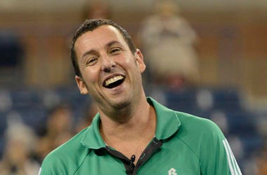 Adam Sandler, Smiling, Green Polo